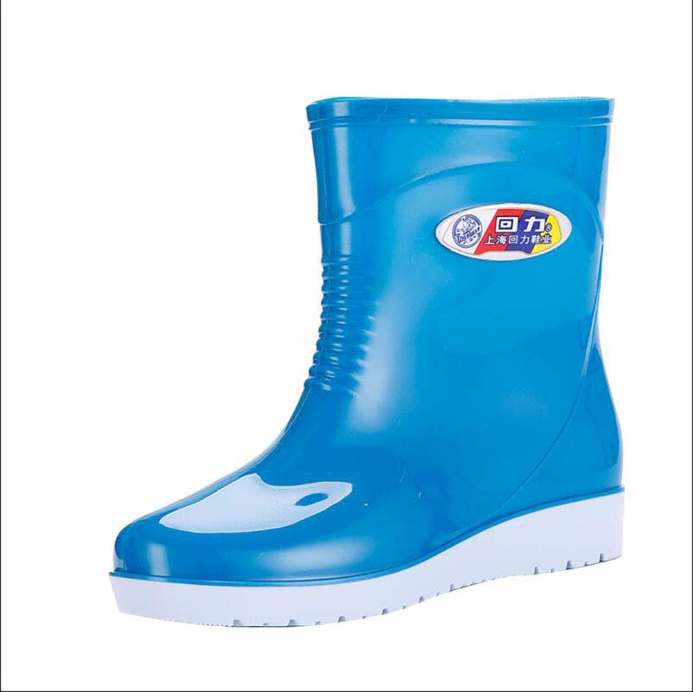 HRFHLHY Schlittenschlittenes, warmes und bequemes Deodorant-Mode-Regenstiefel Deodorant-Mode-Regenstiefel Deodorant-Mode-Regenstiefel inmitten der Barrel Damenschuhe in die Wasserdichten Kinderschuhe,Blau,40 11caf5
