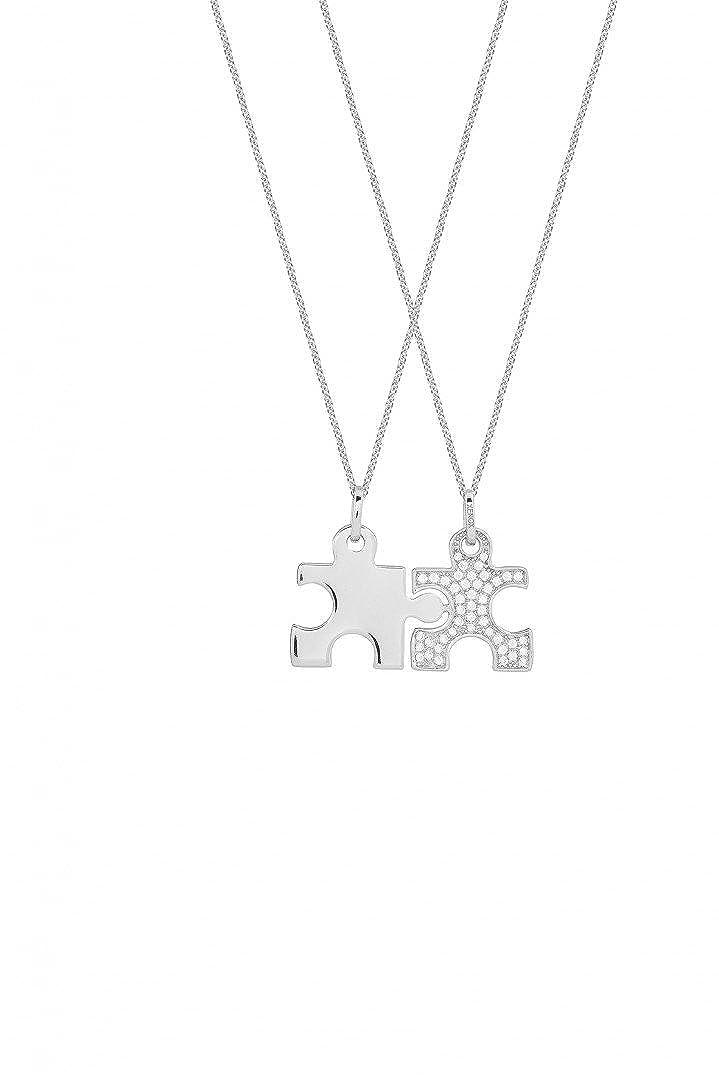 Damen-Anhänger Puzzle 925 Sterling Silber rhodiniert Zirkonia XS3526