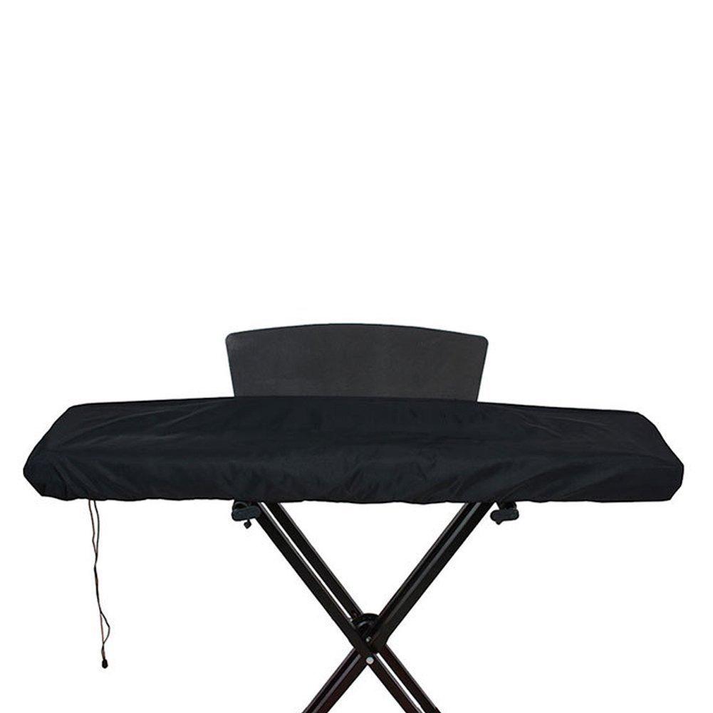 HANSHI Housse de piano électronique universelle 61/88touches avec cordon de serrage - Étanche et anti-poussière 61KEY Noir