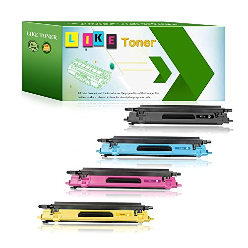 (LikeToner TN115/TN110 Toner Replacement For Brother Printer MFC-9440CN,MFC-9450CDN,MFC-9840CDW,MFC-9842CDN,MFC-9870CDW,MFC-9940CDN Toner Cartridge, 4 Pack of Set (1 Black,1 Cyan,1 Magenta,1 Yellow))