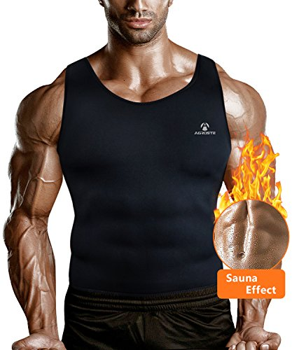 AGROSTE Men Waist Trainer Vest for Weightloss Hot Neoprene Corset Body Shaper Zipper/No Zipper Sauna Tank Top Workout Shirt