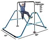 Kids Jungle Gymnastics Expandable Junior Training Monkey Bars Climbing Tower Child play Training Gym Blue