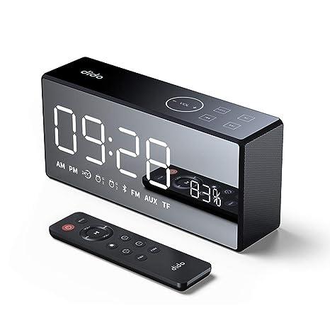 Amazon.com: iBaste_S Bluetooth Speaker Remote Control Mini Card Mirror FM Audio Charging Radio Call Alarm Set Smart Speaker: Electronics