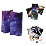 3 Dozen (36) OUTER Space PARTY FAVORS - 12 ea - Make a SOLAR SYSTEM Stickers Sheets - Mini NOTEBOOKS & Goody BAGS - Science - PLANETS - SOLAR SYSTEM Classroom TEACHER Rewards