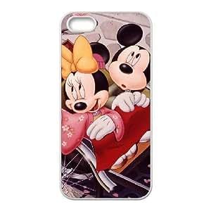 Funda iPhone 4 4S caso funda de teléfono celular blanco de Mickey Mouse I7G3HV