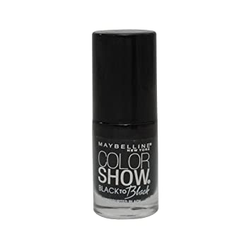 Image result for maybelline black nail laque