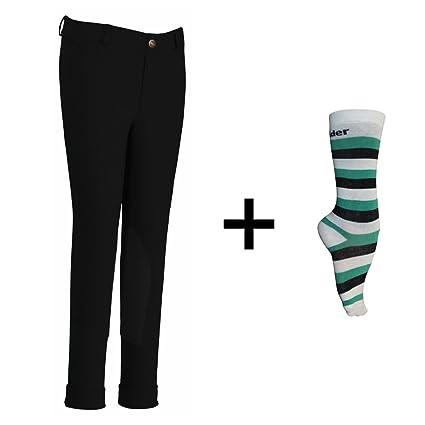 994cb03845b TuffRider Children s Starter Lowrise Pull-On Jods with Free Assorted  Striped Socks