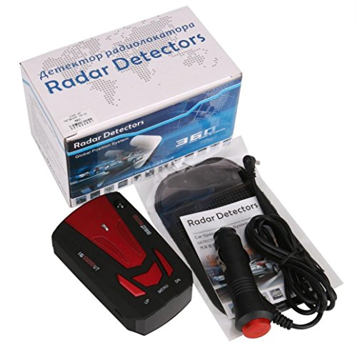 E-Bro 16 Band Radar Detector, Voice Alert and Car Speed Alarm System with 360 Degree Detection, City/Highway Mode Radar Detectors for Cars Red by E-Bro (Image #3)