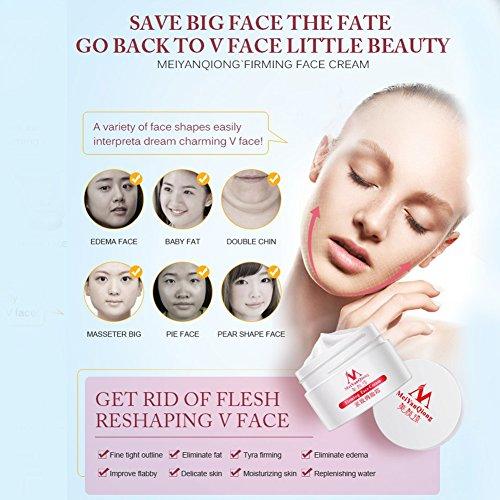 Collagen Cream V-Shape Face Line Lift Firming 40ml 3D Double Cheek Chin Slimming Repair Wear Uplifting Firming Cream (white)