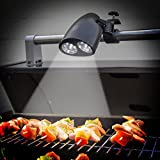 AGPtek Ultra Bright Barbecue Grill Light with 10 Super Bright LED Lights, Handle bar Mount BBQ Light for Grilling Fully Adjustable, Easy to Install, Touch Sensitive Switch, Battery Operated