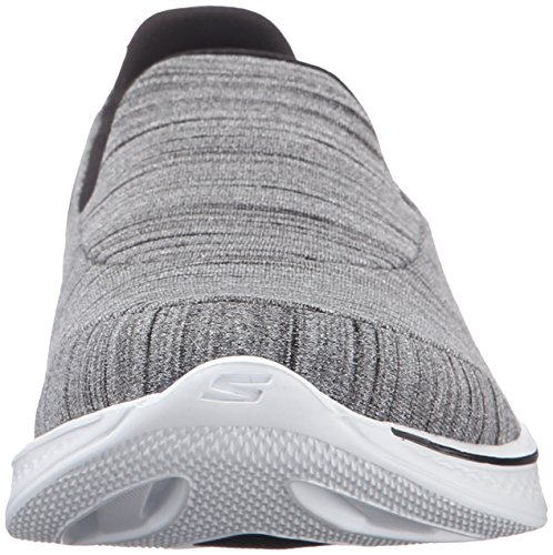 Skechers Performance Women Go Walk 4 Soddisfare Walking Shoe Nero / Bianco