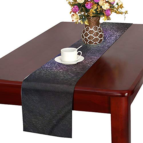 Abstract Pattern Abstract Pattern Nobody Macro Table Runner, Kitchen Dining Table Runner 16 X 72 Inch For Dinner Parties, Events, Decor -