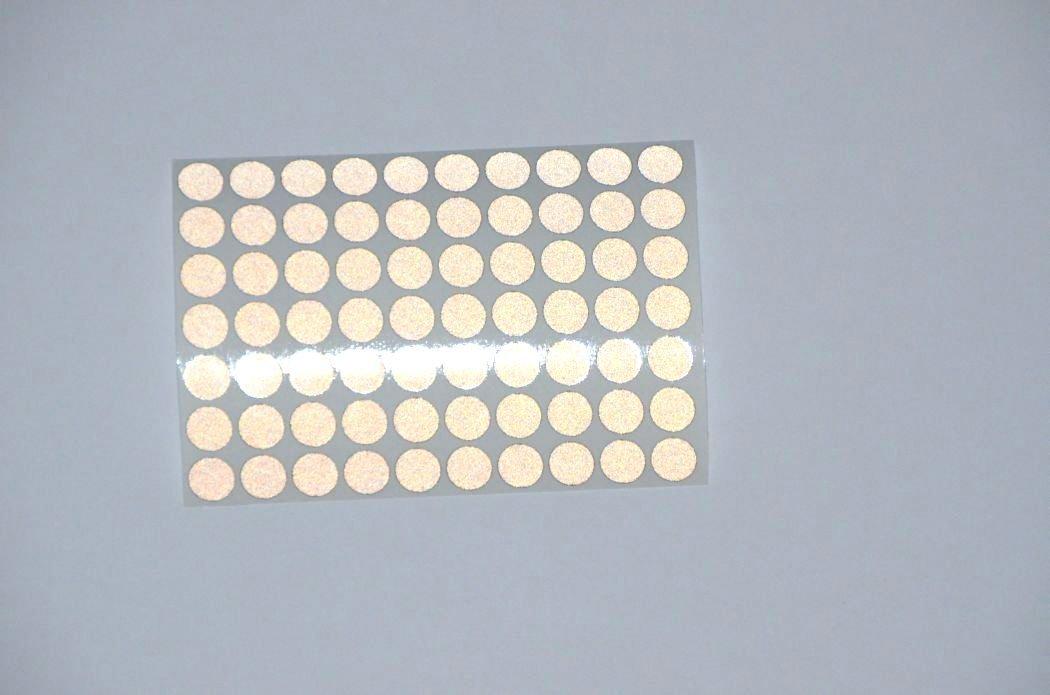 Nachtcache Markenfolie hochreflektierend 100 x Geocaching Reflektoren schwarz Reflektor selbstklebend witterungsbest/ändig ORALITE 5500 ENGINEER GRADE Feuernadel