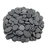 Royal Ram Flat Mexican Beach Pebbles - 3 Pounds Medium Size 1/2' - 1' - Decorative, Landscaping, Vase Filler, Aquarium Safe
