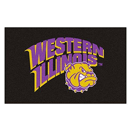 FANMATS NCAA Western Illinois University Bulldogs Nylon Face Ultimat Rug