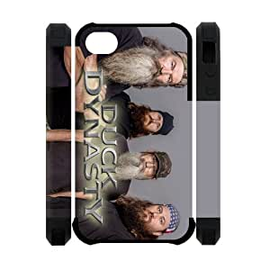 Custom Reality Show Duck Dynasty Series iPhone 4 4S New style Case Cover-black&white