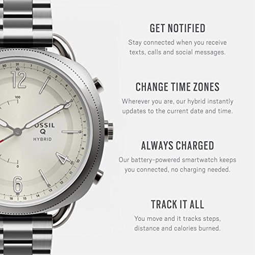 Fossil Hybrid Smartwatch - Q Accomplice Stainless Steel FTW1202 by Fossil (Image #1)