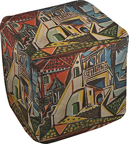 Mediterranean Landscape by Pablo Picasso Cube Pouf Ottoman - 13