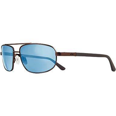 2a25d79e1 Revo Nash RE 1013 02 GBL Polarized Aviator Sunglasses, Brown/Blue Water/  Crystal