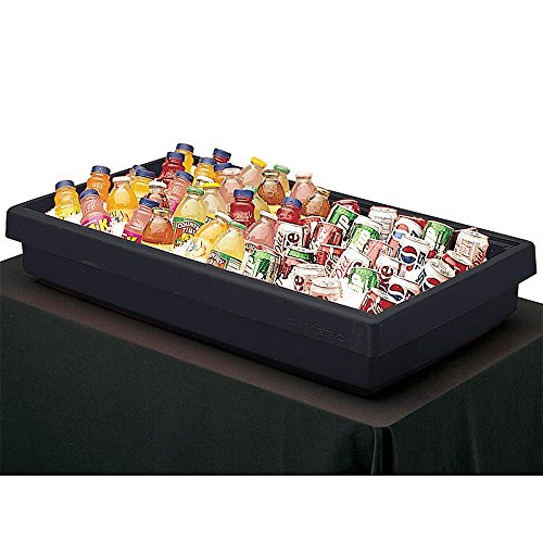Cambro BUF48110 Table Top Food Bar, 41-13/16''L X 24''W X 7'' H, 3-Pan Capacity, Black, NSF by Cambro