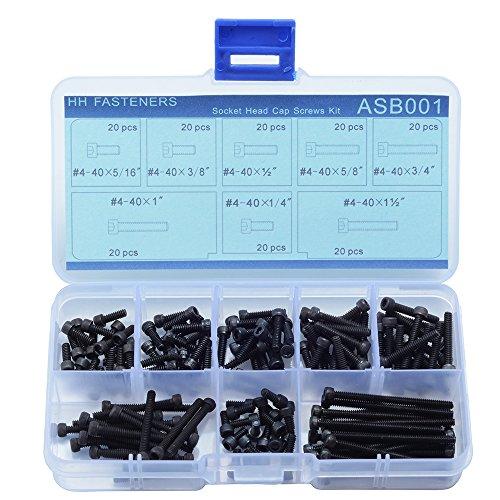 (#4-40 UNC 12.9 Grade Alloy Steel Hex Socket Head Cap Screws Assortment Set,160-piece)