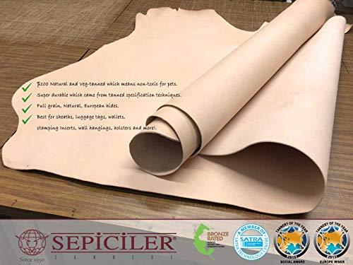 Import Tooling Veg Tan Single Cowhide Leather Shoulder 8/9 oz.4-6 SQF by SEPICI (Image #7)