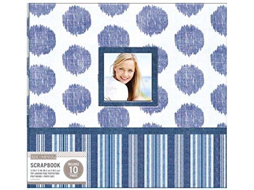 (K & Company K&Co Clge Blue Scrapbook 12x12 Window Vntag)