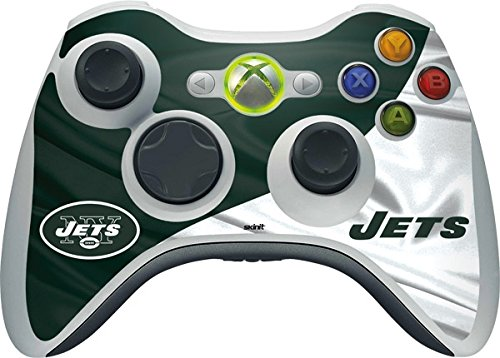 (Skinit NFL New York Jets Xbox 360 Wireless Controller Skin - New York Jets Design - Ultra Thin, Lightweight Vinyl Decal Protection )