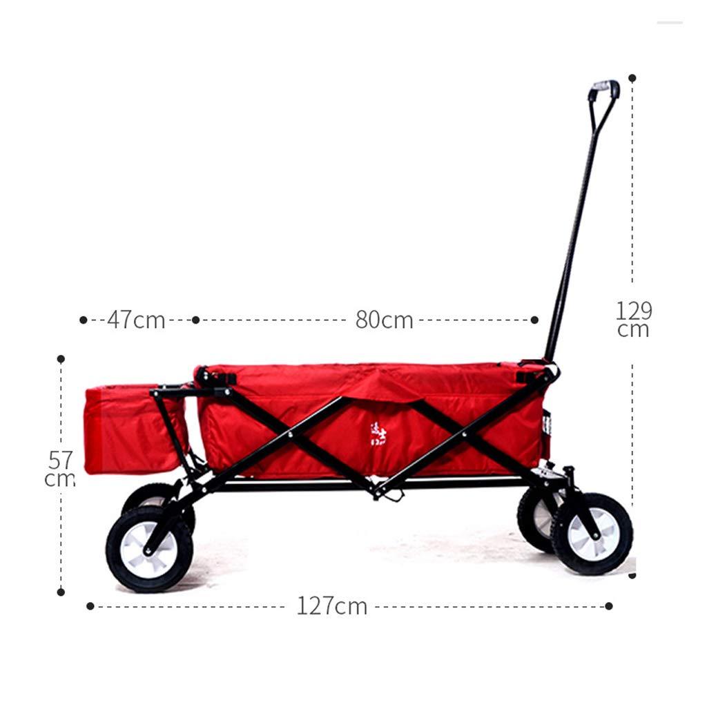 Carritos de la compra de Gran Capacidad Bicicleta Plegable portátil multifunción Remolque hogareño Carro de la Compra Gran Capacidad (Size : with Tail ...