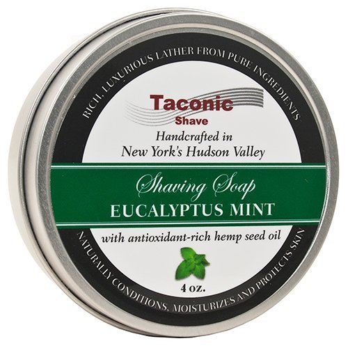 Taconic Shave Barbershop Quality Eucalyptus Mint Shaving Soap with Antioxidant-Rich Hemp Seed Oil Parker Safety Razor