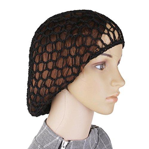 - Women Soft Rayon Snood Hair Net Crochet Hairnet Cap Elastic Edge Mesh Reusable Hair Nets 5Pcs