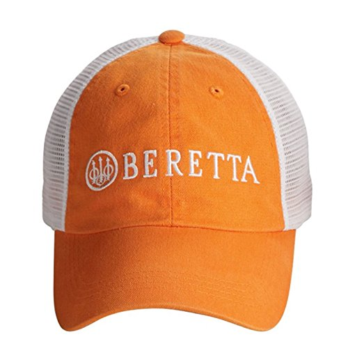 Cap Beretta (Beretta Men's Lp Trucker Hat, Orange/White, One Size)
