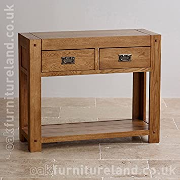 Oak Furniture Land Quercus Rustikale Solide Eiche Konsole Amazon De