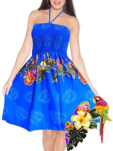 Femmes Maillots de Bain Maxi Jupe vtements de Plage Maillot Couvrir Tube suprieur Sundress Licou Bleu_m81