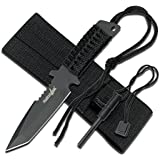 Survivor Hunting Camping Fixed Blade Knife with Fire Starter and Sheath
