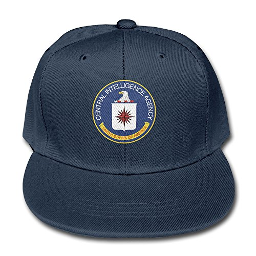 Central Intelligence Agency Seal Cotton Baseball Cap Boys Girls Snapback Hip Hop Flat Hat Navy