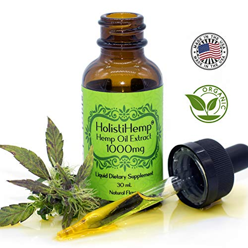 Hemp Oil Extract Full Spectrum 1000mg 30mL - Pain Relief - Anti Anxiety Social Anxiety- Depression Stress Support - Anti-inflammatory - Grown & Made USA - Brain Health Natural Flavor, Organic, Non GMO