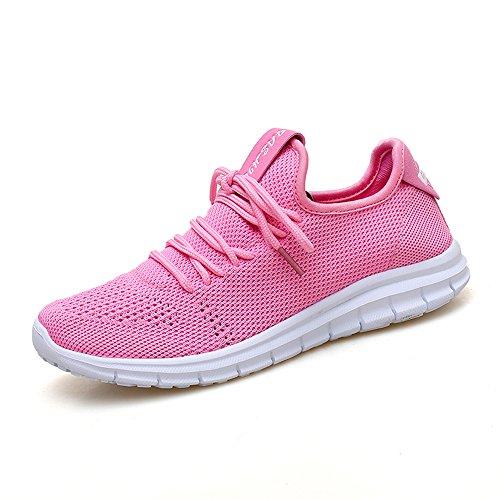 Mujer para Zapatillas Lona Rosa YMY de Running de YxSCXq