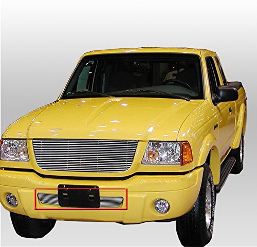 ZMAUTOPARTS Bumper Billet Grille Grill Insert For 2001-2003 Ford Ranger XLT 4WD Edge ()