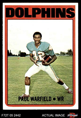 - 1972 Topps # 167 Paul Warfield Miami Dolphins (Football Card) Dean's Cards 6 - EX/MT Dolphins