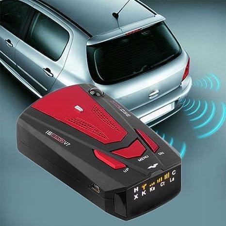 gris argent/é Mini Livecity Voiture d/étecteur de radar anti Police v/éhicule de voiture Speed d/étecteur de radar 360 degr/és voix davertissement Gris argent/é