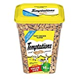 TEMPTATIONS Classic Treats for Cats Tasty Chicken Flavor 16 Ounces (Pack of 4)