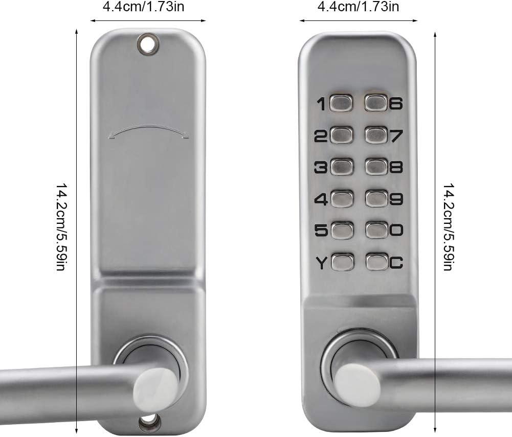 JingYi Code Lock,Safe and Durable,1-11 Digit Code Combination Cam Door Zinc Alloy Convenient Password Security Coded Lock Door Coded Lock for Office Doors,etc.
