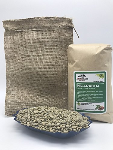 5lbs NICARAGUA (includes a FREE BURLAP BAG) Specialty-Grade, CURRENT-CROP Green Unroasted Coffee Beans  SantaRita  Natural Fermentation Process, Washing in Running Channel, Sundried, Resting 60 days