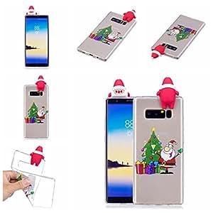 Funda para Samsung Galaxy Note 8, DAMONDY 3d Cute Christmas Old Man suave silicona Gel delgado diseño de goma fina funda protectora teléfono móvil para Galaxy Nota 8(2017)
