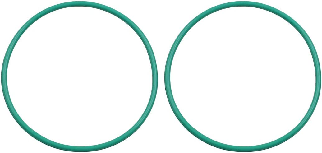 X AUTOHAUX 2pcs Green Universal Rubber O-Ring Sealing Gasket Washer for Car 50mm x 2mm