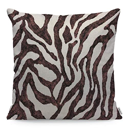 WONDERTIFY Pillow Cover Zebra Skin Pattern Nature Animal for sale  Delivered anywhere in USA