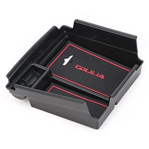 Vesul Armrest Secondary Storage Box Glove Pallet Center Console Tray Divider for Alfa Romeo Giulia Sedan 2017 2018 from Vesul