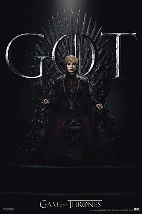 Game of Thrones For the Throne Cersei Lannister Poster 12x18