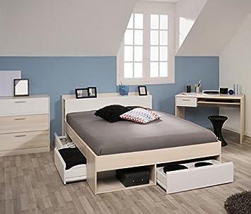 Amazon.de: Kinderzimmer 3-tlg Akazie beige / weiß inkl ...